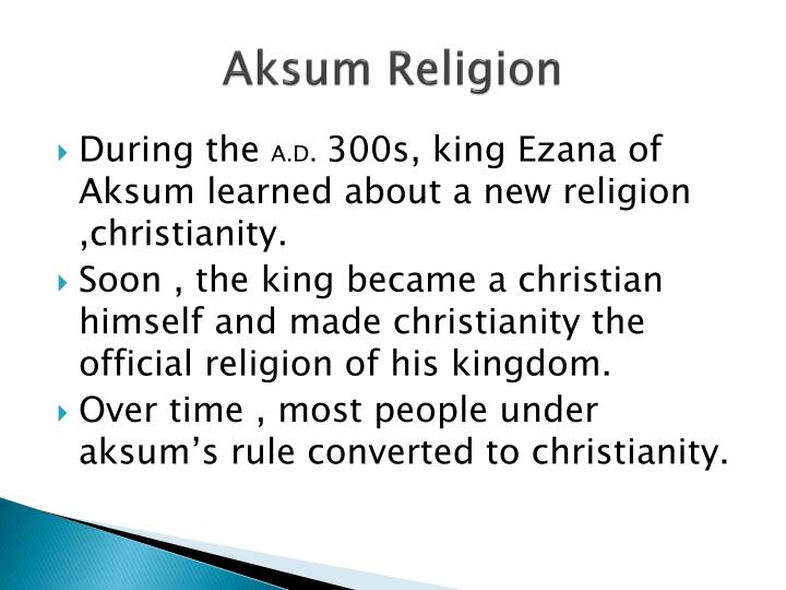 Aksum Religion
