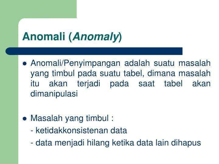 Anomali (