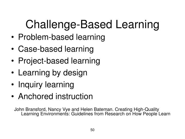 Challenge-Based Learning