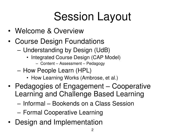 Session layout