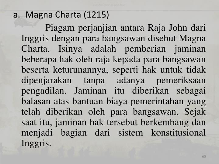 Magna Charta (1215)
