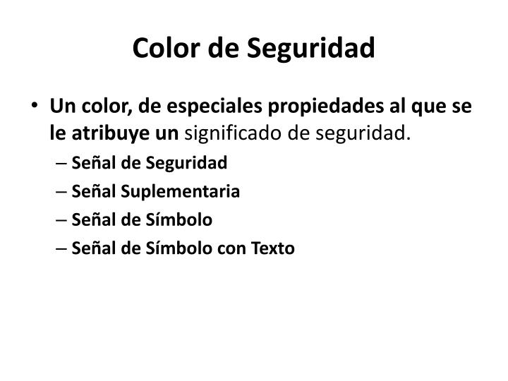 Color de seguridad