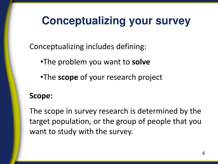 Conceptualizing your survey