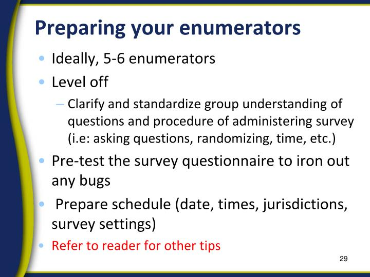 Preparing your enumerators