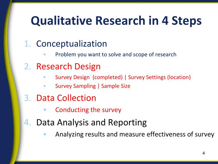 Qualitative Research in 4 Steps