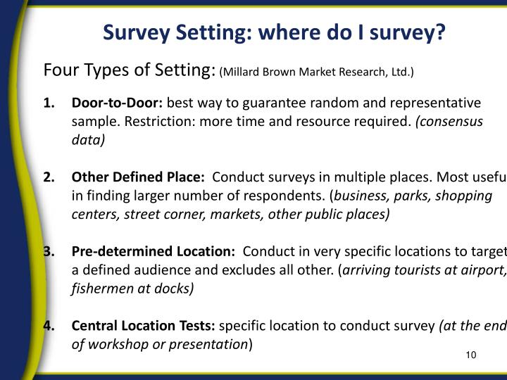 Survey Setting: where do I survey?