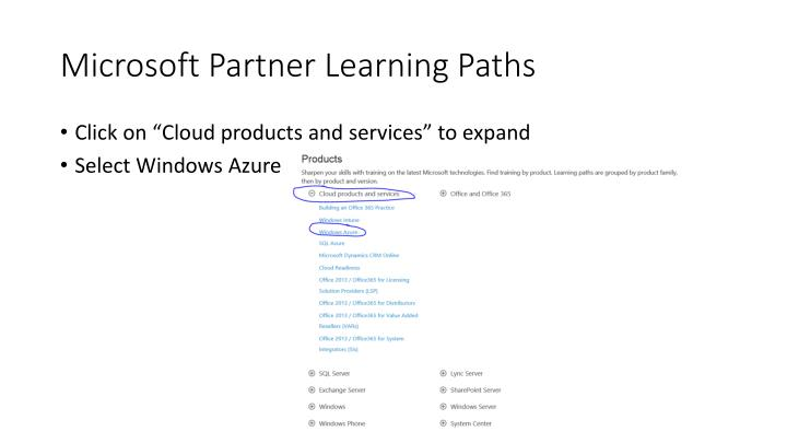 Microsoft partner learning paths1