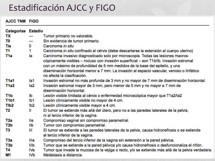 Estadificación AJCC y FIGO