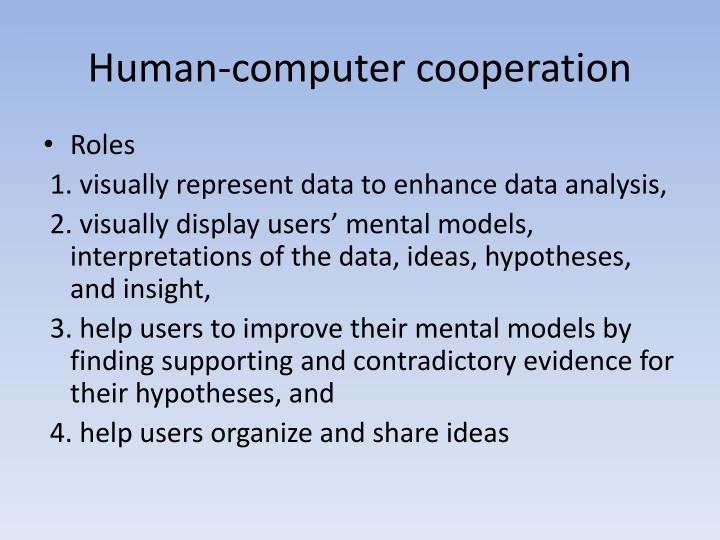 Human-computer cooperation