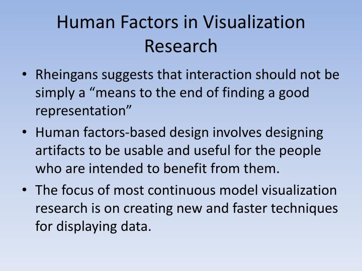 Human Factors in Visualization Research