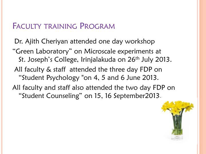 Faculty training Program