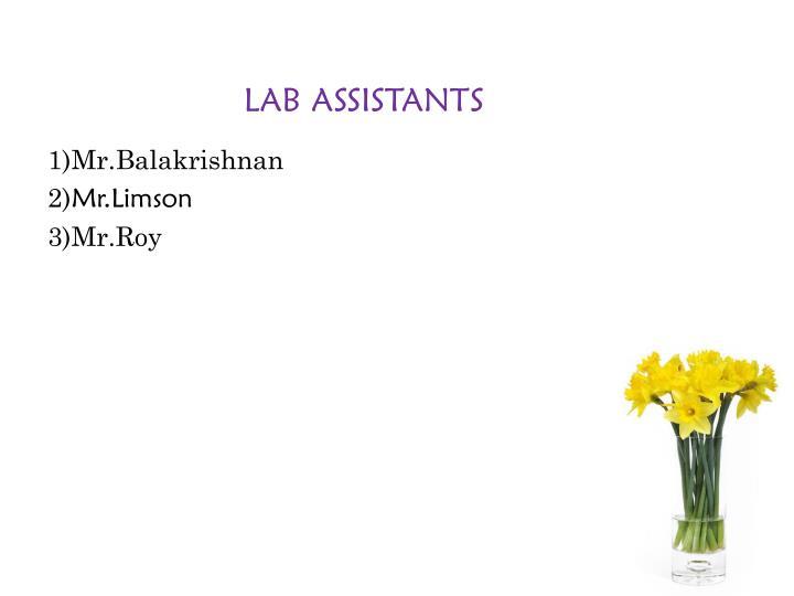 LAB ASSISTANTS