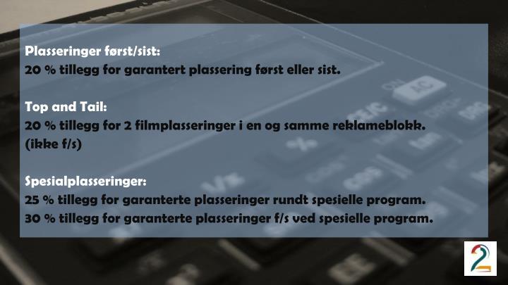 Plasseringer