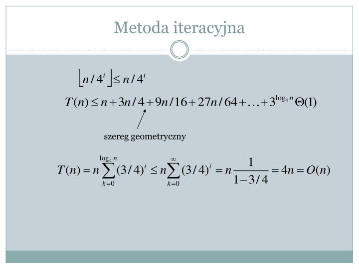 Metoda iteracyjna