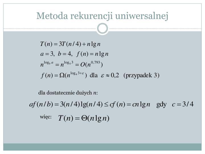 Metoda rekurencji uniwersalnej