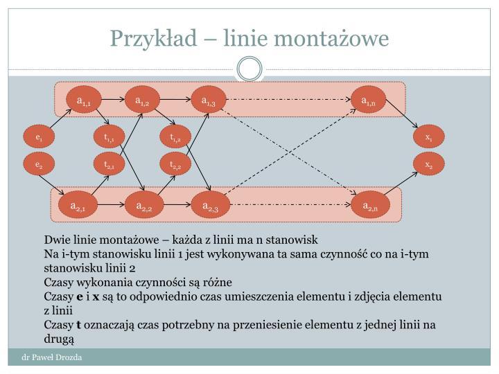 Przykład – linie montażowe