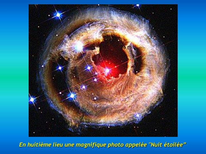 """En huitième lieu une magnifique photo appelée """"Nuit étoilée"""""""