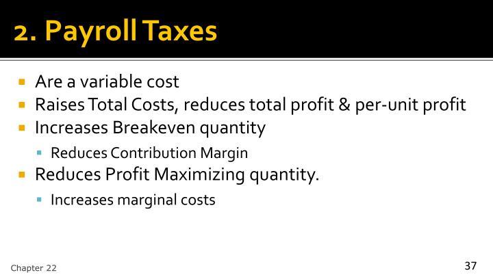 2. Payroll Taxes