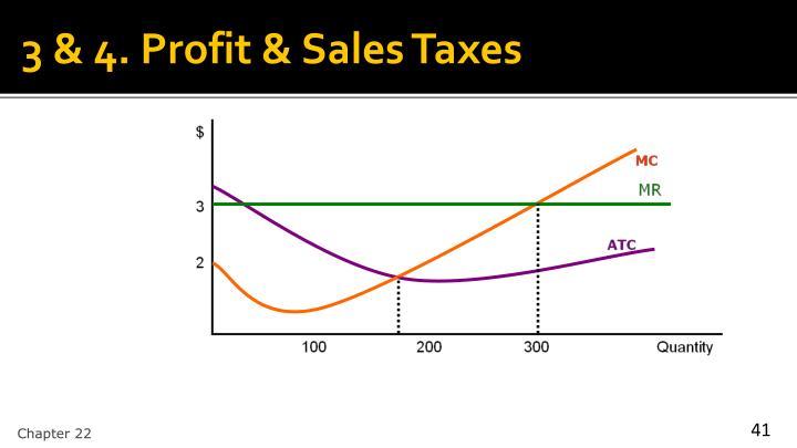 3 & 4. Profit & Sales Taxes