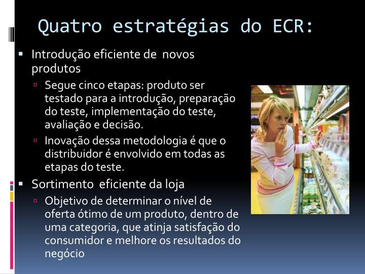 Quatro estratégias do ECR:
