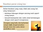 keunikan peran orang tua