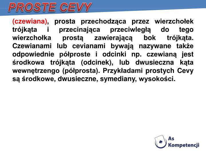 PROSTE CEVY