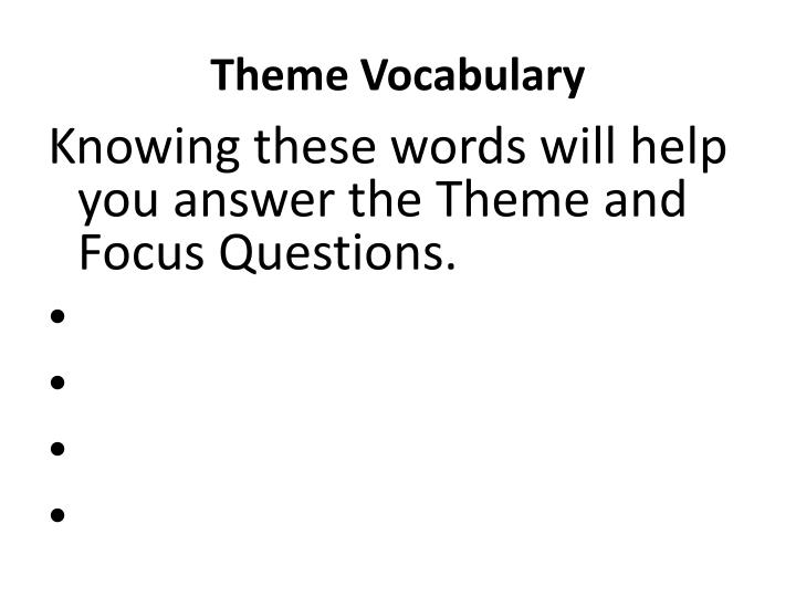 Theme Vocabulary