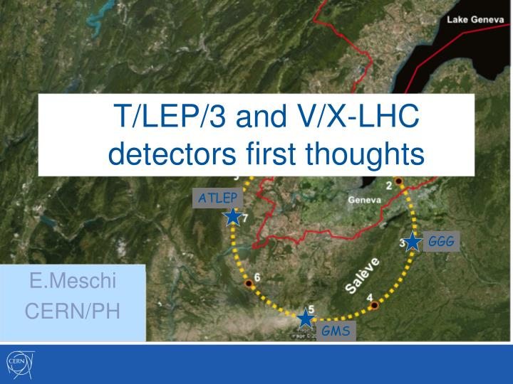 T lep 3 and v x lhc detectors first thoughts