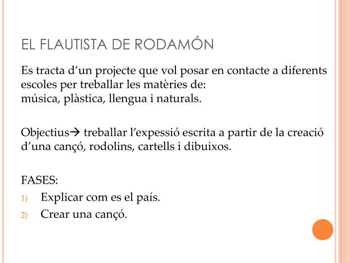 EL FLAUTISTA DE RODAMÓN