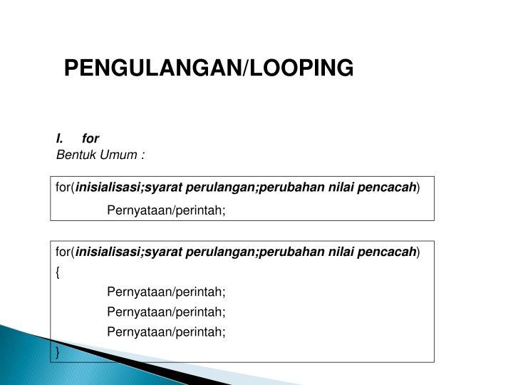 PENGULANGAN/LOOPING