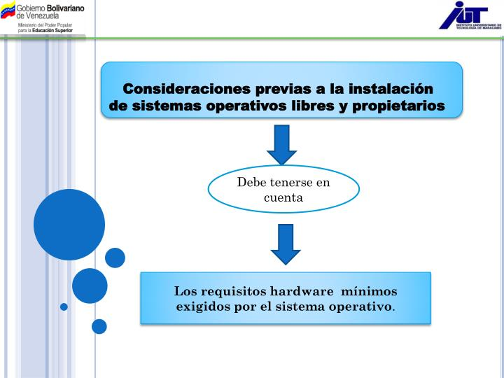 Consideraciones previas a la instalación de sistemas operativos libres y propietarios