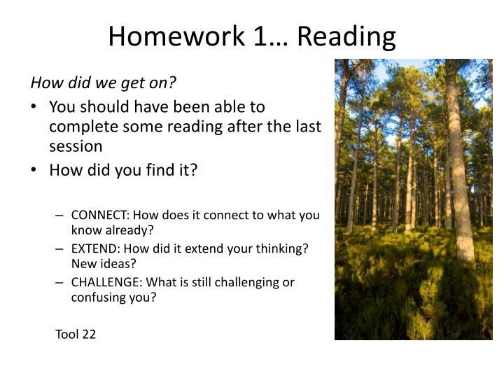 Homework 1… Reading