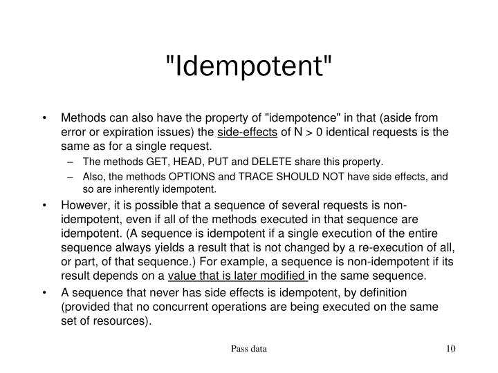"""Idempotent"""