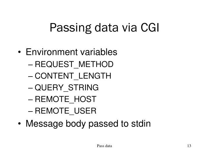 Passing data via CGI