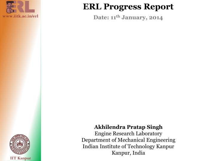 ERL Progress Report