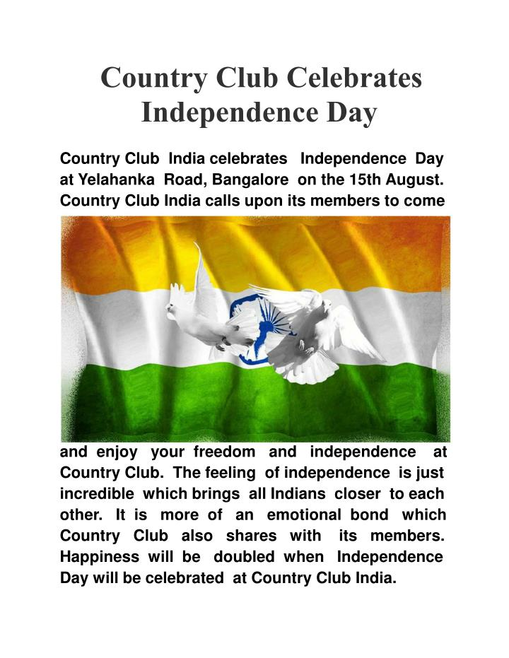 Country Club Celebrates
