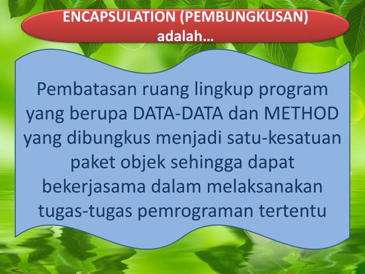 ENCAPSULATION (PEMBUNGKUSAN)
