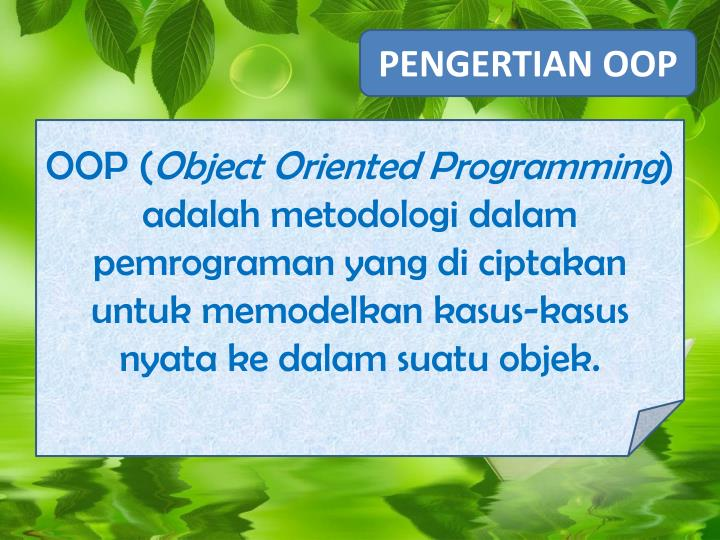 PENGERTIAN OOP