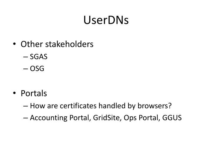 UserDNs