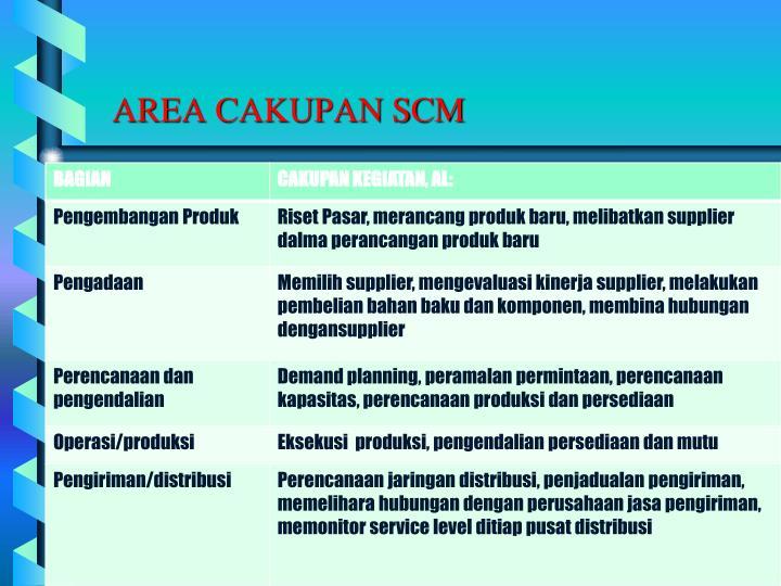 AREA CAKUPAN SCM