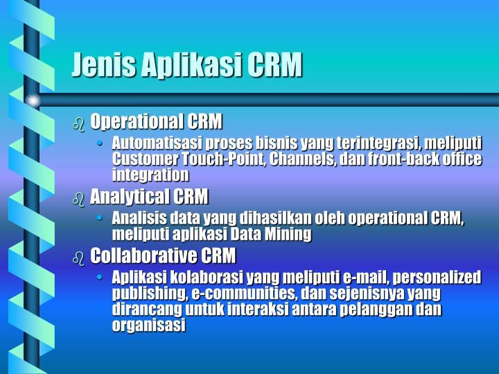 Jenis Aplikasi CRM