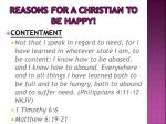 reasons for a christian to be happy1