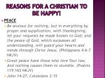 reasons for a christian to be happy2
