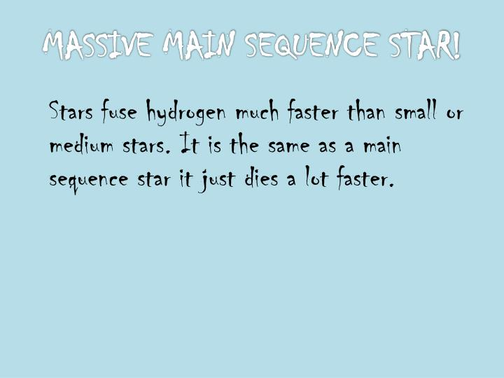 MASSIVE MAIN SEQUENCE STAR!