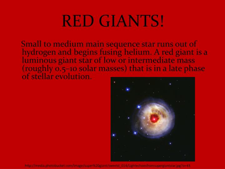 RED GIANTS!