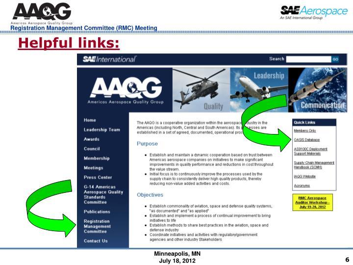 Helpful links: