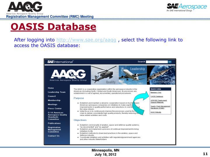 OASIS Database