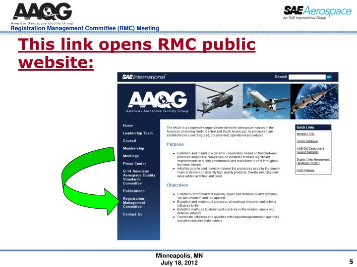 This link opens RMC public website: