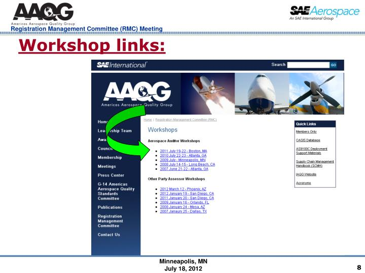 Workshop links: