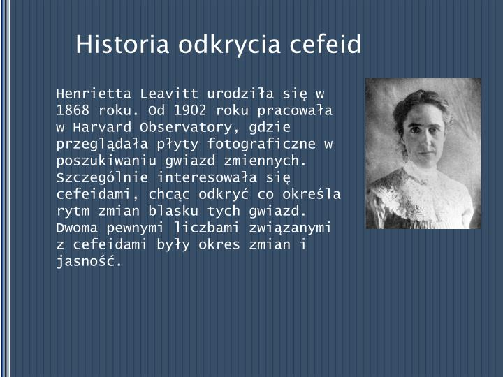 Historia odkrycia cefeid
